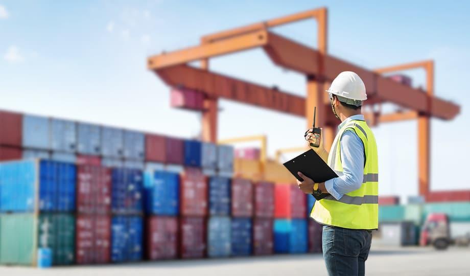 Servicios aduaneros en puerto marítimo de Cartagena, en la Region de Murcia