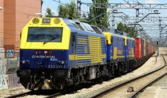 Transporte de mercancías en tren ferrocarril