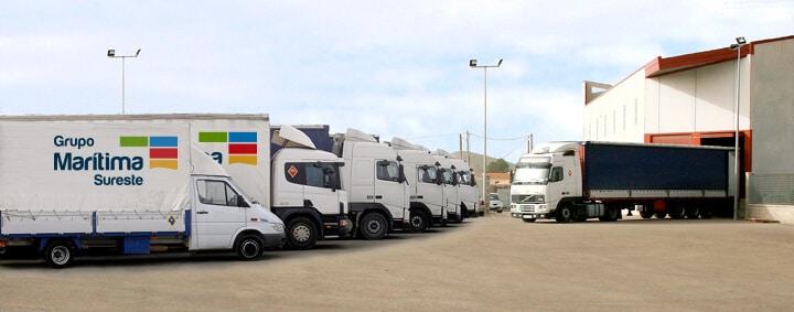 Flota de camiones - Grupo Marítima Sureste