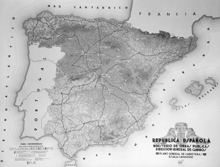 Transporte Terrestre - Mapa histórico de carreteras de España