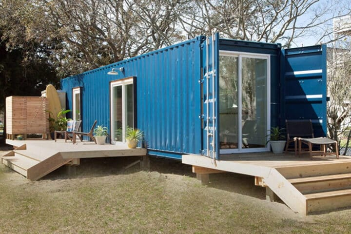 Casa construida con contenedor marítimo de 40 pies
