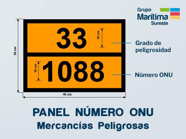 Panel naranja numero ONU para el transporte de mercancías peligrosas
