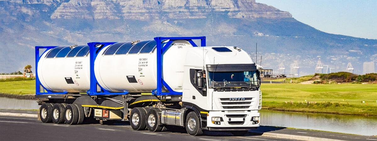 Transporte de contenedores marítimos cisterna ADR IMO IMDG por carretera