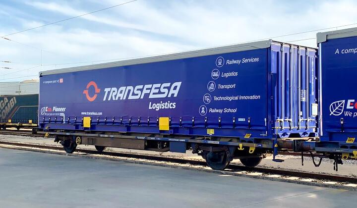 Unidad de carga ferroviaria swap body lona courtainsider