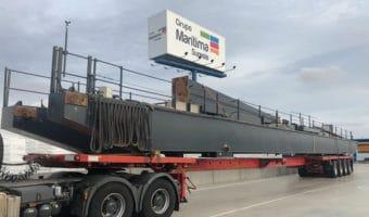 Transporte de cargas con medidas especiales por carretera