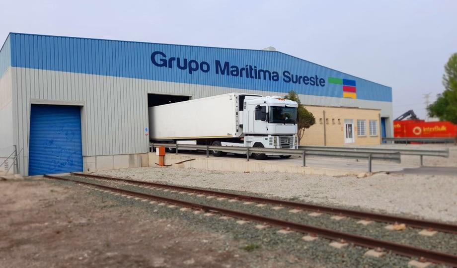 Logistics warehouse located at the Nonduermas rail freight terminal in Murcia - Maritima Sureste UK.