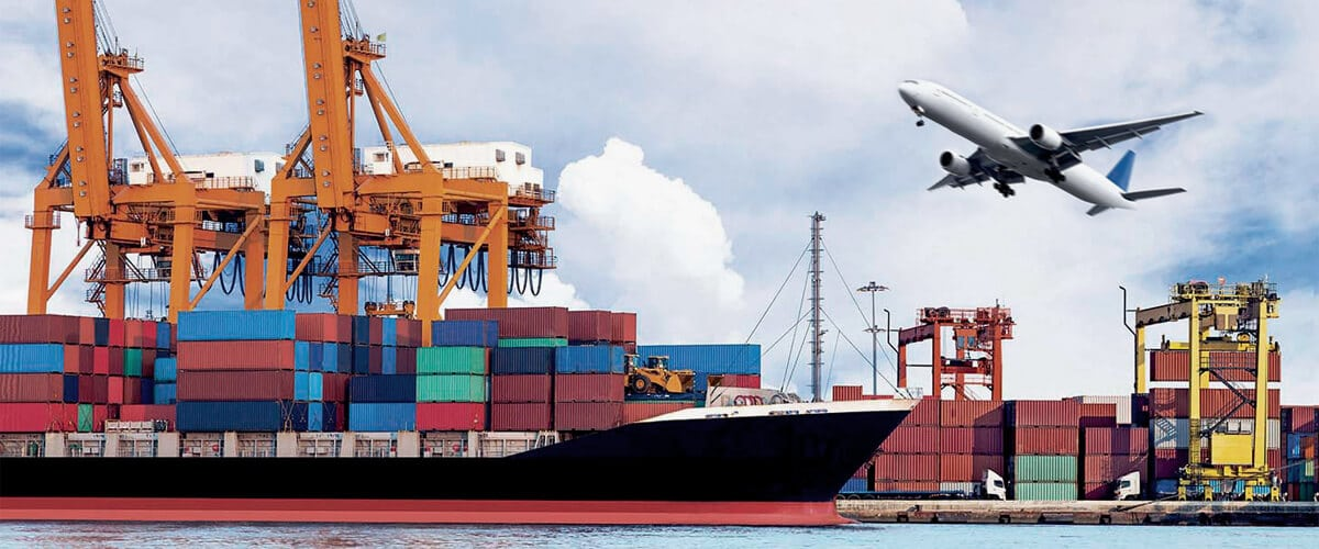 Transport of complementary goods to land - air and sea transport