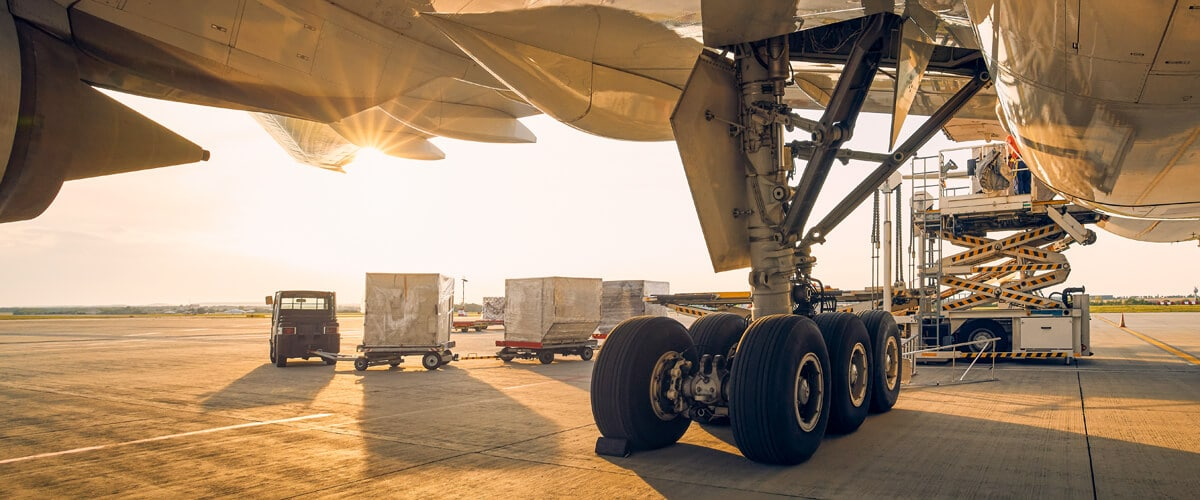 Transport of air containerised cargo by air charter