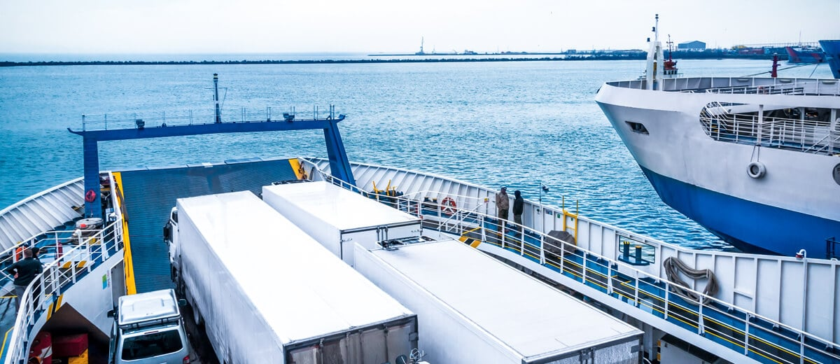 National maritime transport by ro-ro mode RORO