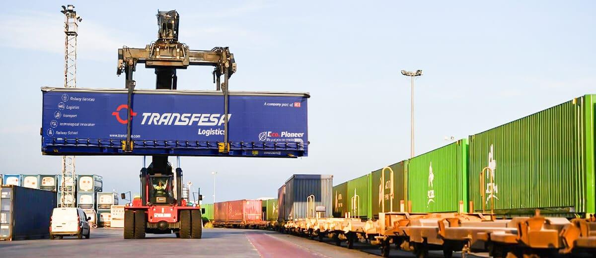 Intermodal road Reach Stacker Swap Body