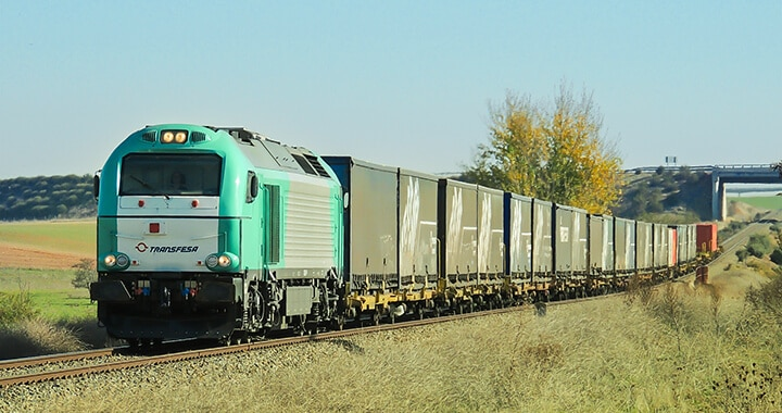 Rail freight transport Murcia - United Kingdom